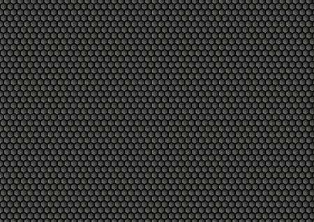 Honingraat illustratie van het Donkere Bij. Donkere abstracte achtergrond met honingraat patroon. Stock Illustratie