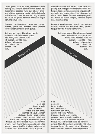 Newspaper page with Lorem Ipsum text and empty space for your text.