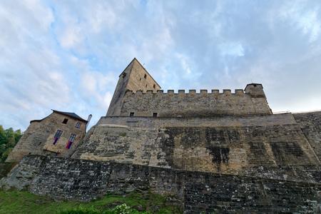 Gothic castle Kost. It lies between two brooks. Central Europe, Czech Republic, National Park Cesky Raj (Bohemian Paradise). Reklamní fotografie