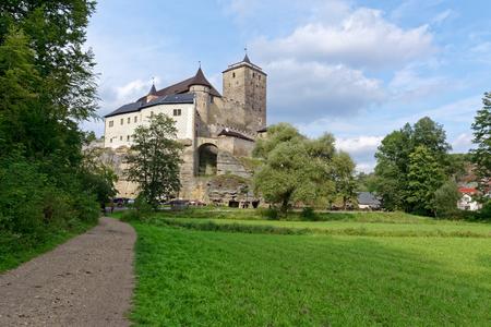 Gothic castle Kost. It lies between two brooks. Central Europe, Czech Republic, National Park Cesky Raj (Bohemian Paradise). Redakční