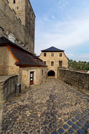 CZECH REPUBLIC, KOST CASTLE - SEPTEMBER 9, 2017: Gothic castle Kost. It lies between two brooks. Central Europe, Czech Republic, National Park Cesky Raj (Bohemian Paradise).