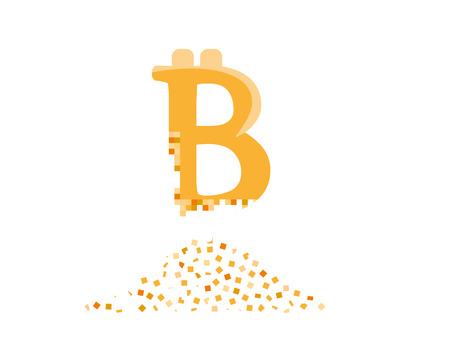 Bitcoin decay. Crashing bitcoin into small pieces.