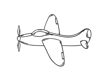 Sketch of the plane isolated on white background.