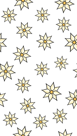Flowers seamless pattern. Repeating background with abstract flowers.