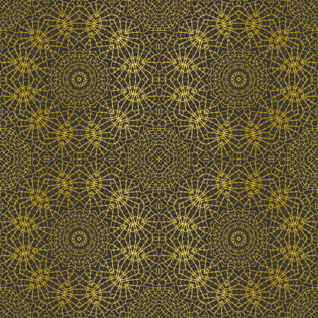 Ornamental seamless pattern - circles with linear ornaments. 版權商用圖片 - 123636552
