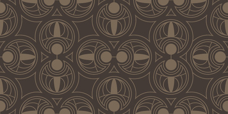 Seamless pattern. Circle abstract elements. Repeating abstract background. 版權商用圖片 - 123636557