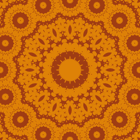 Ornamental seamless pattern - circles with linear ornaments.