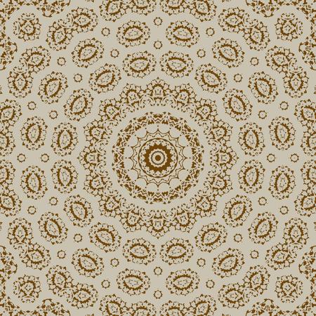 Modello senza cuciture ornamentale - cerchi con ornamenti lineari.