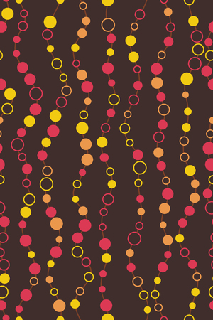 Seamless pattern. Wavy linear stripes with dots. Repeating abstract background with circles or dots. 版權商用圖片 - 123636646