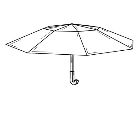 Open umbrella usually used as a rain protection.