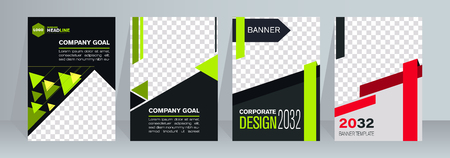 Abstract flyer design background. Brochure template. For magazine cover, business mockup, presentation, report. Foto de archivo - 123043841