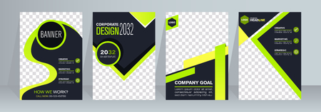 Abstract composition. White roll up brochure cover design. Info banner frame. Triangle figures icon. Foto de archivo - 123043843