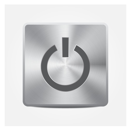 Aluminium Button On or Off