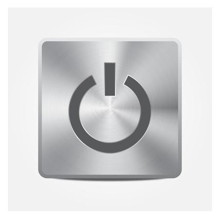 Aluminium Button On or Off