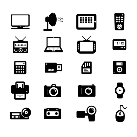 portable player: Electronic and Accessories Icon Illustration