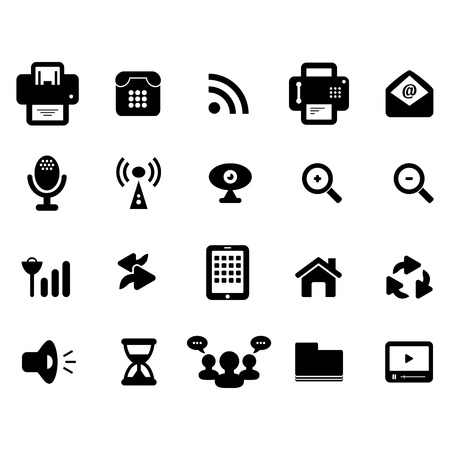 social issues: Media e Comunicazione Icona Vettoriali
