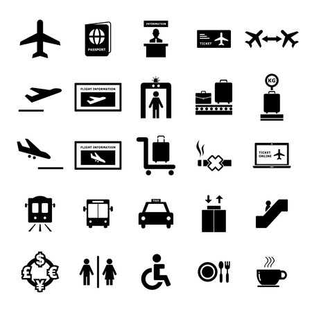 Airport Icon set for your design Çizim