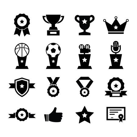 champion: Award Icon set for your design