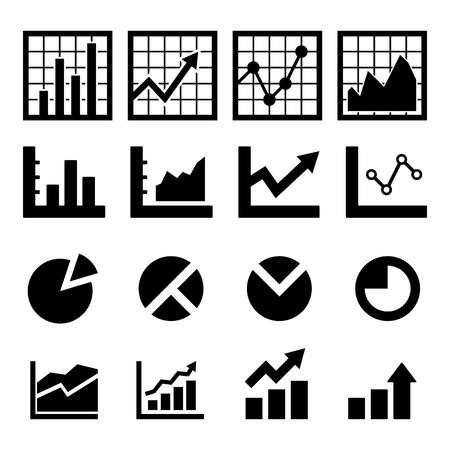 bar graph: Chart Icon set for your design