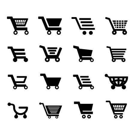merchant: Cart Icon set for your design Illustration
