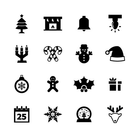 Christmas Icons set for your design Vector