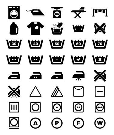 Conjunto de iconos de lavandería