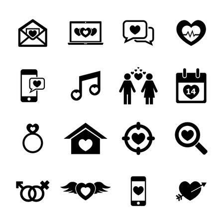love declarations: Love Icon set