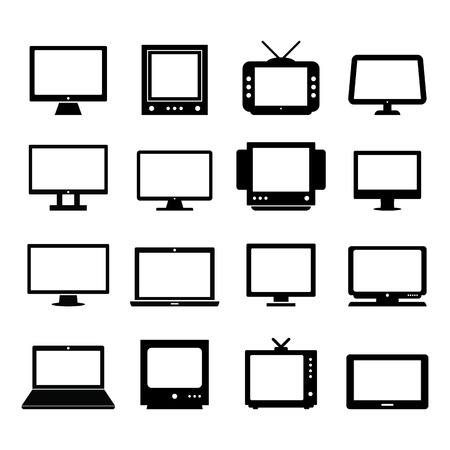 lcd tv: Monitor Vector Illustration