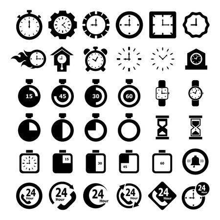 instrument of time: Time Icon set