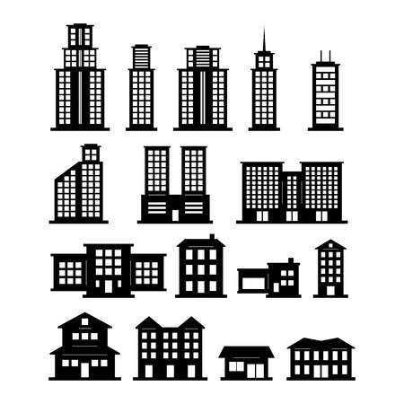 urban apartment: Building Vector