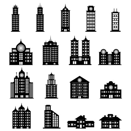 headquarter: Building vector Illustration