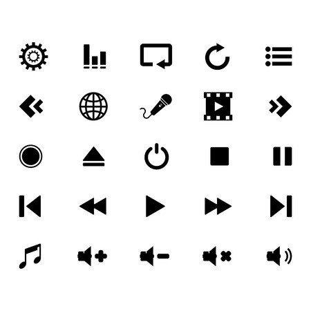 pause button: Media Icon set Illustration