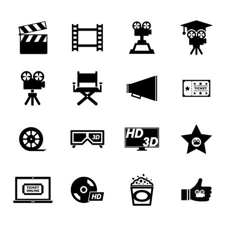 movie theater: Movie Icon Illustration