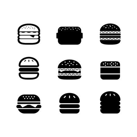 gourmet burger: Hamburger Icon