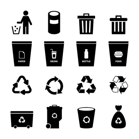 recycling bottles: Garbage Icon