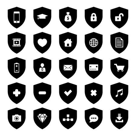 honor guard: Shield Icon Illustration