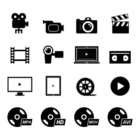 Video Icon Illustration