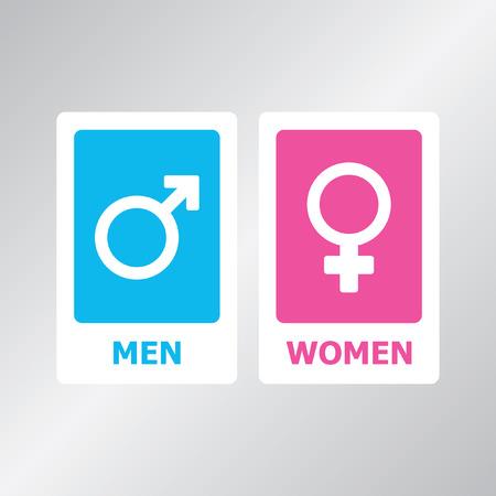 simbolo de la mujer: Baño de signo