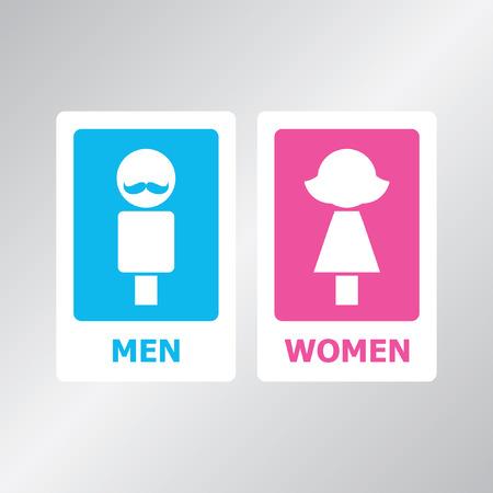 a restroom: Restroom sign