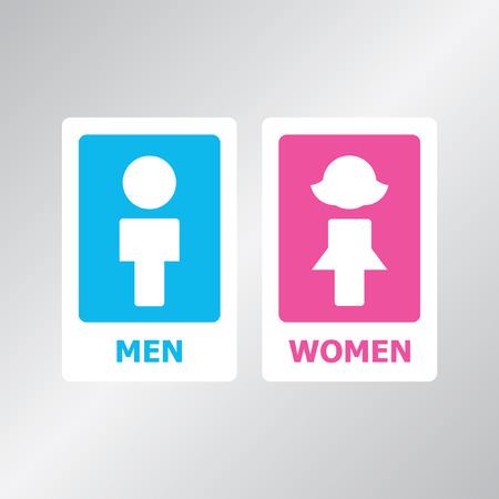 gender symbol: Restroom sign