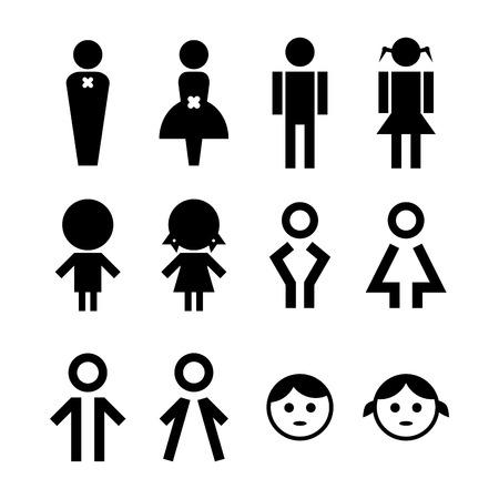 Man and Women Sign Illustration