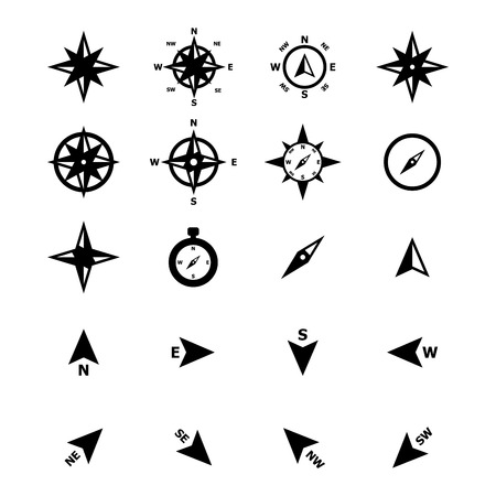 Compass navigation Icon Illustration