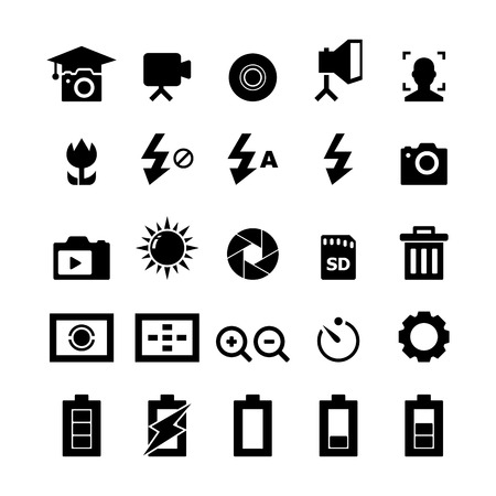 photography equipment: Photography icon Illustration
