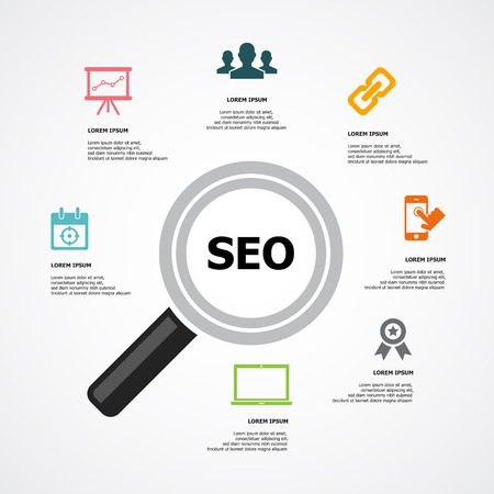 Seo Background Illustration