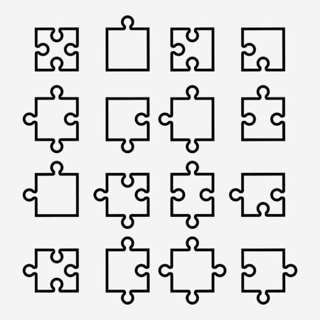 16 Puzzle icon set for your design