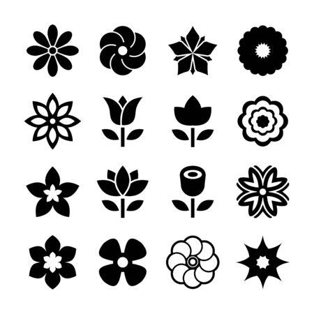 Icona fiore Vettoriali