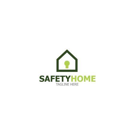 Template Logo safety home Illustration