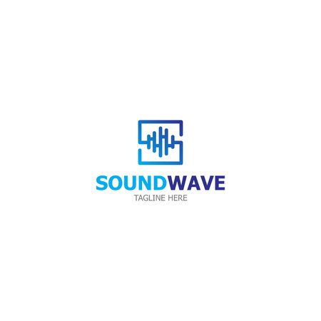 Template logo sound wave design