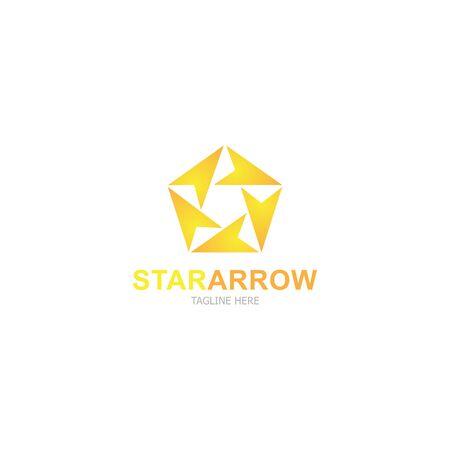 Template logo star arrow design