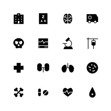 Medical solid icon design